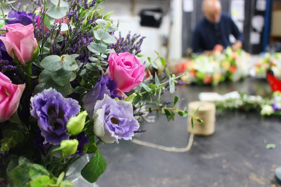 Atelier en cours - fleurs fraîches