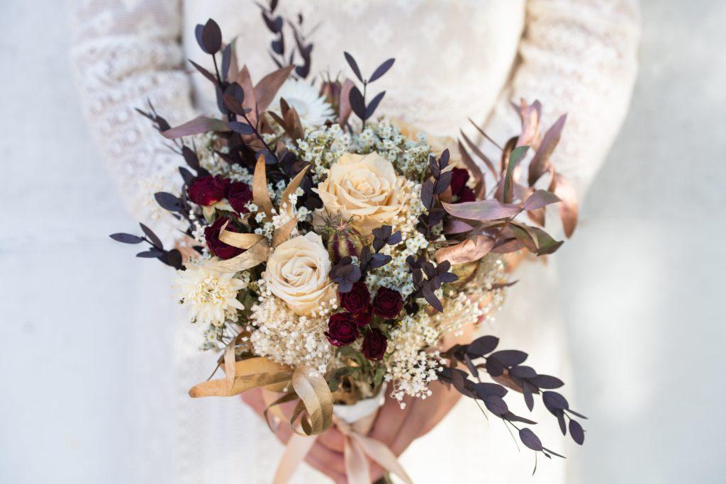 Bouquet de mariée Serre Sauvage en fleurs séchées