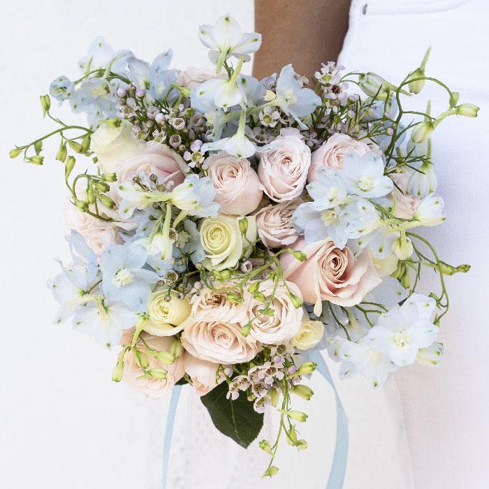 Un bouquet de mariée aux tonalités pastel