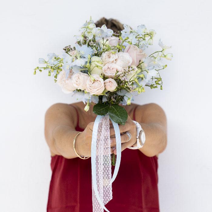 Création Serre Sauvage pour votre bouquet de mariée pastel