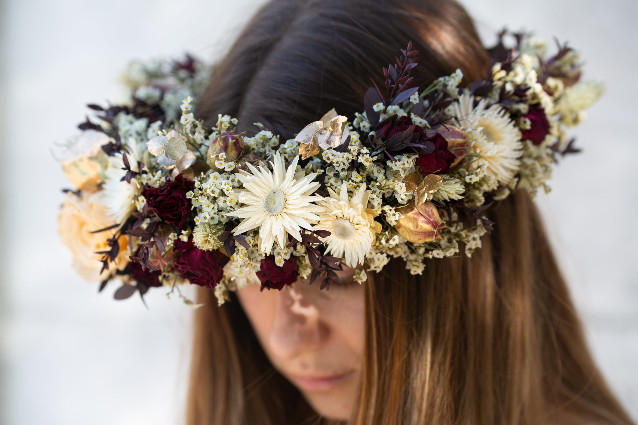 Une couronne de fleurs séchées Serre Sauvage