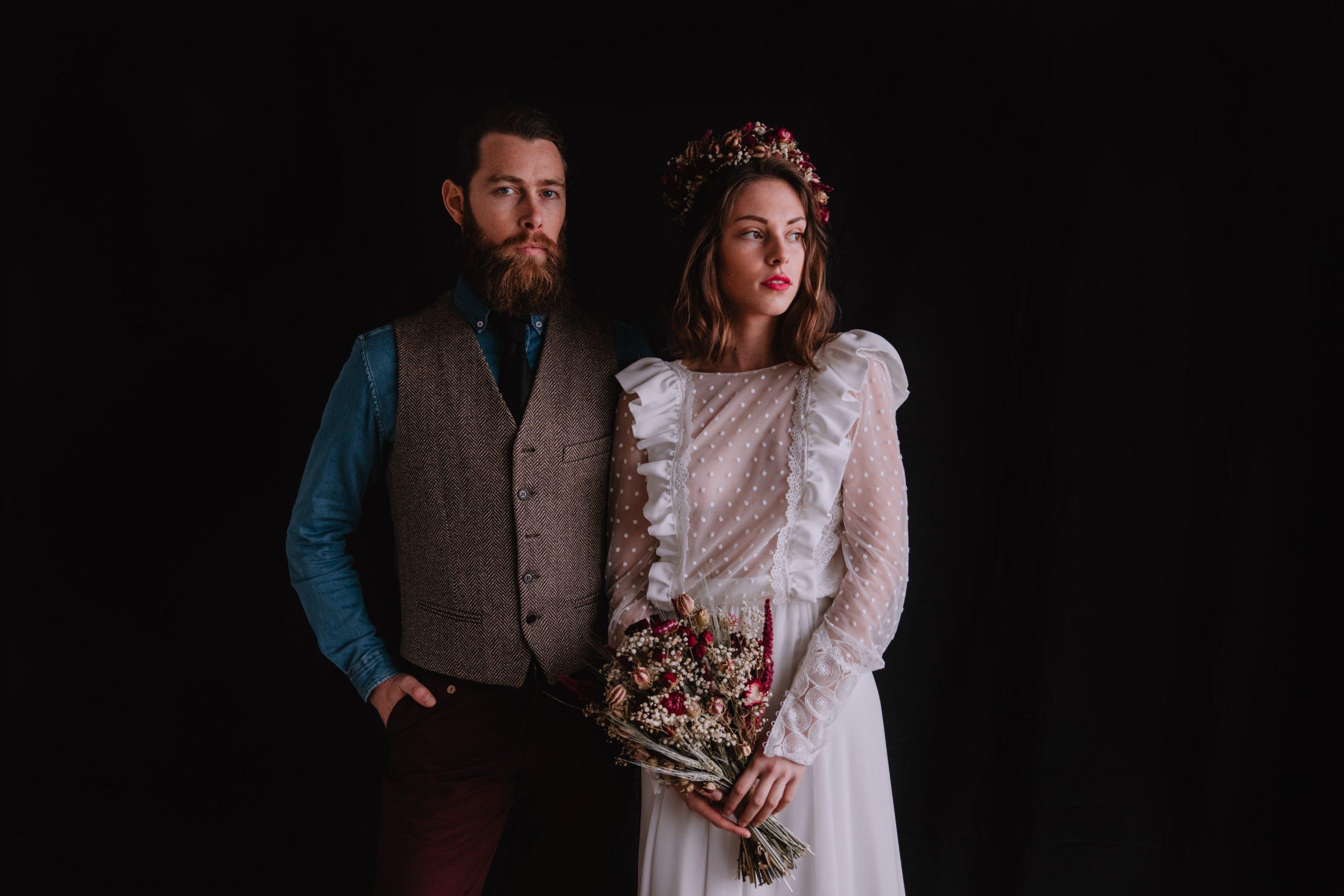 Mariage en fleurs séchées signé Serre Sauvage