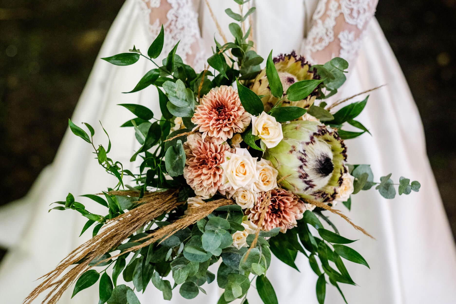 Bouquet de mariée signé Serre Sauvage